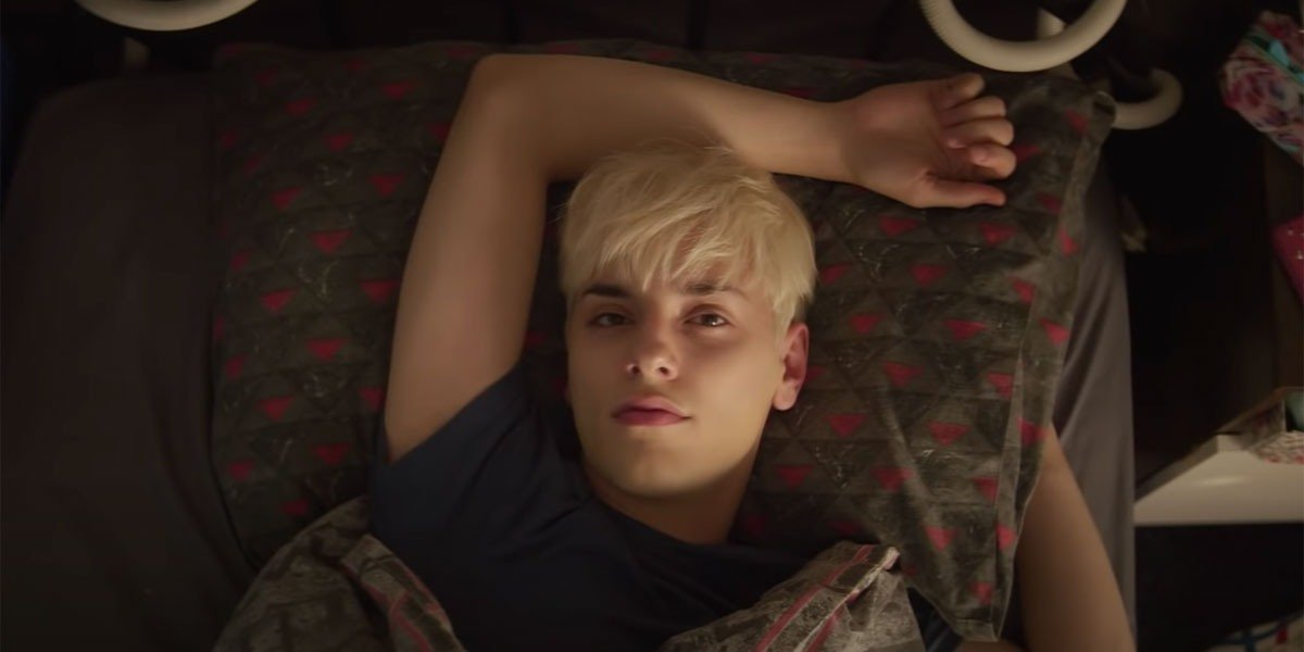 Max Hardwood in the trailer for Everybody's Talking About Jamie.