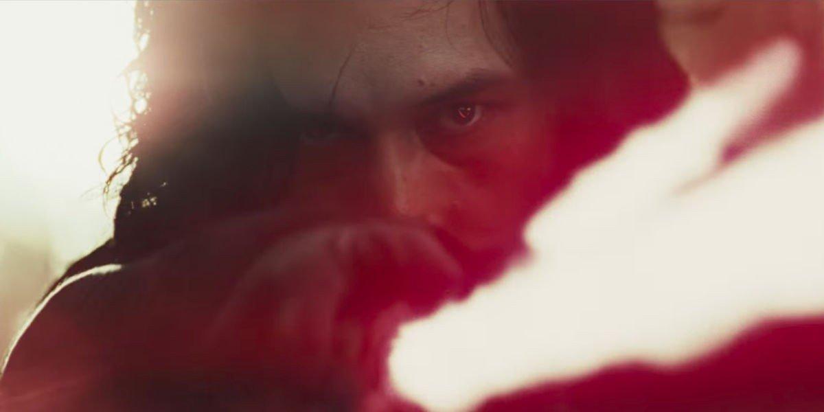Adam Driver as Kylo Ren in Star Wars: The Last Jedi (2017)