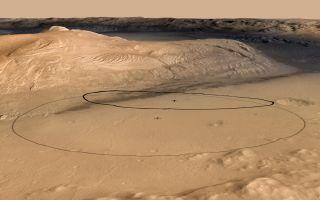 Revised Landing Target for Mars Rover Curiosity