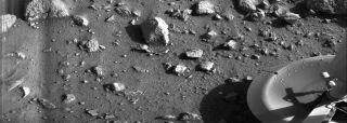 Viking 1 Lander's First Photo on Mars