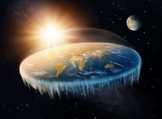 Flat-Earthers believe that the Earth is a flat disc ringed by an ice wall.