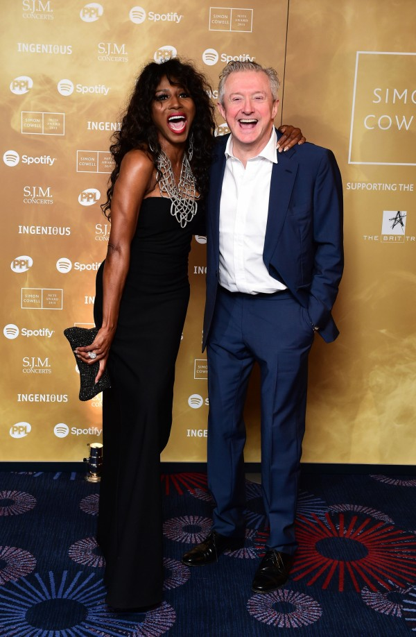 Sinitta and Louis Walsh attending the Music Industry Trusts Award (MITS) in aid of charities Nordon Robbins and Brit Trust at the Grosvenor House Hotel