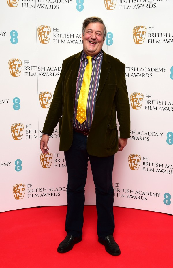 Stephen Fry at the Baftas last year