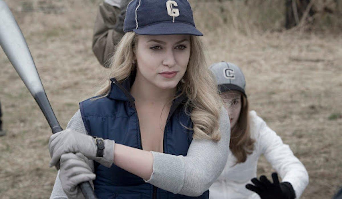 Nikki Reed as Rosalie in Twilight baseball scene