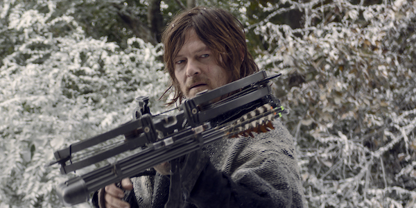 daryl in the snow the walking dead