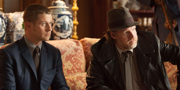 Jim Gordon and Harvey Bullock on Gotham