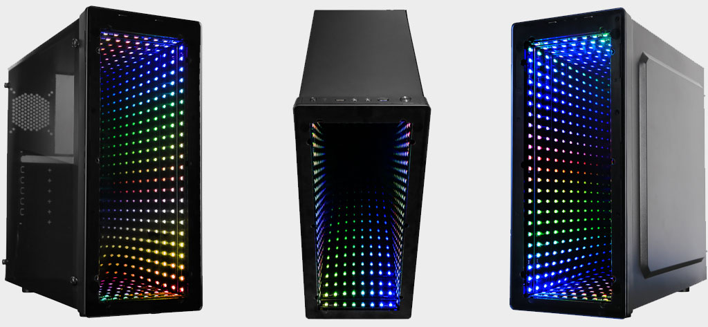 Raidmax stuck a mirror in its latest case for a trippy lighting effect