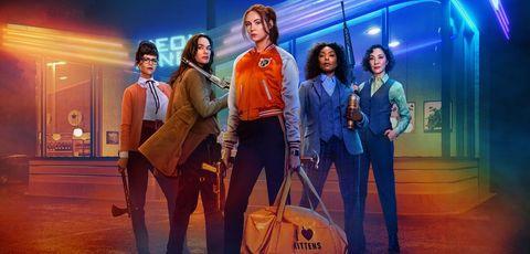Karen Gillan and the cast of Netflix's 'Gunpowder Milkshake.'