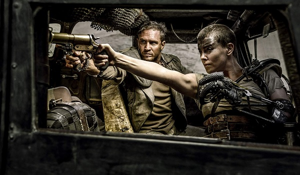 Mad Max: Fury Road Tom Hardy Charlize Theron Max and Furiosa take aim