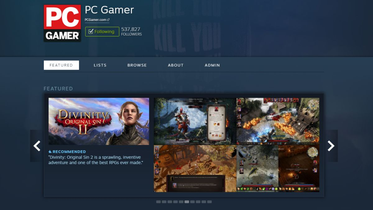 Steam users can now choose to 'ignore' curators they don't like