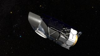 Artist's impression of NASA's Wide Field Infrared Survey Telescope (WFIRST).