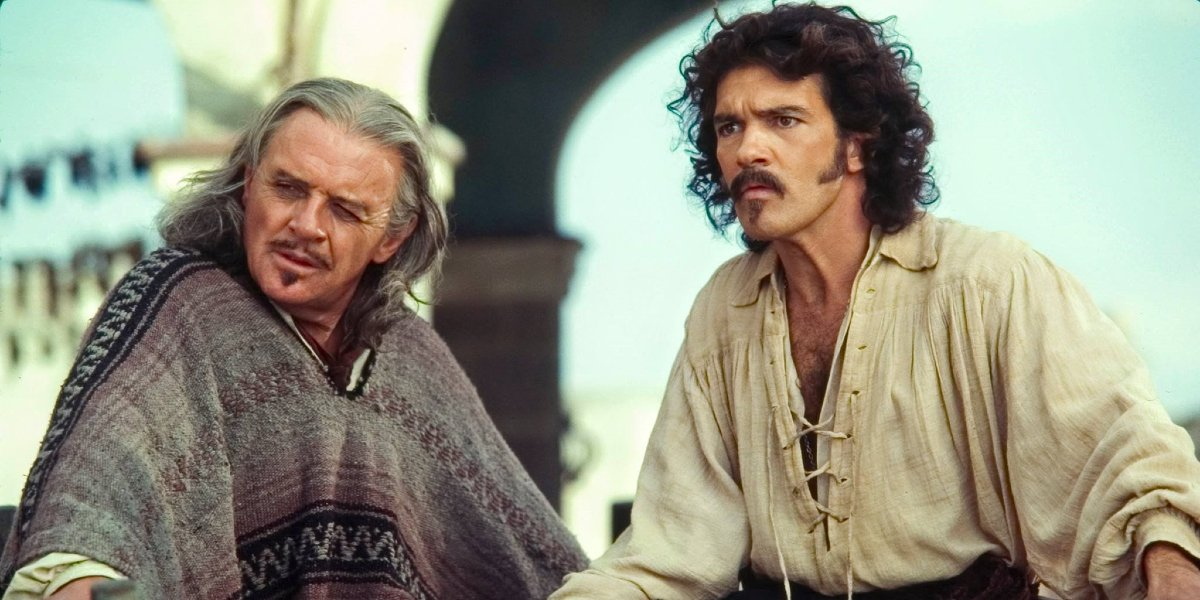 Anthony Hopkins and Antonio Banderas in The Mask of Zorro