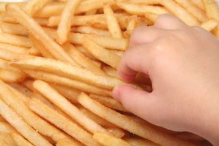 french fries, kids, health
