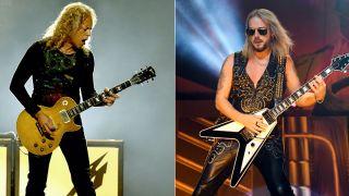 Kirk Hammett (left) and Richie Faulkner