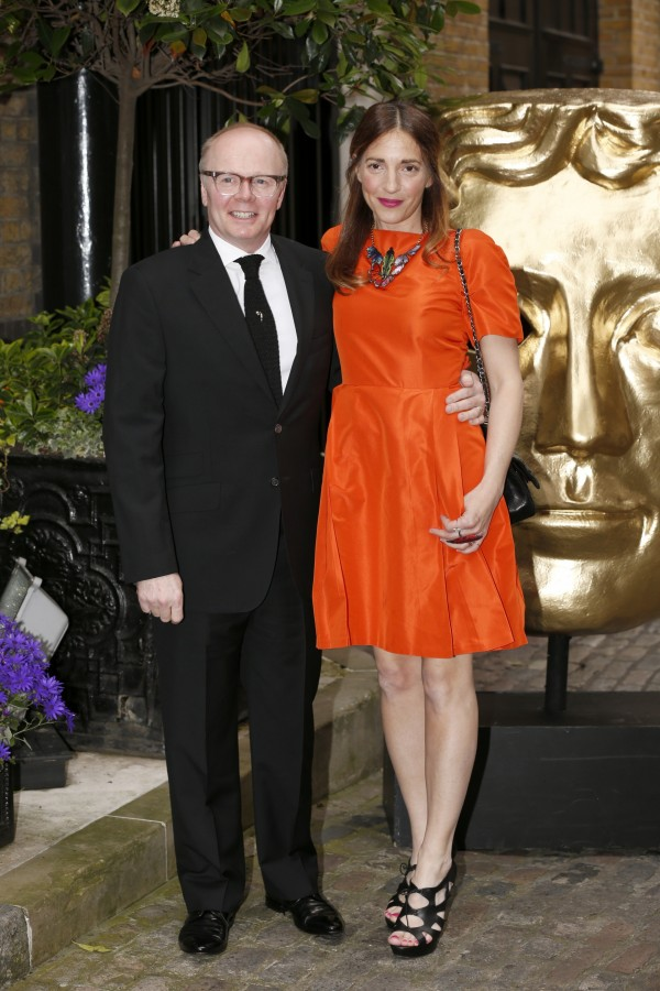 Jason Watkins with his partner Clara Francis (Jonathan Brady/PA)