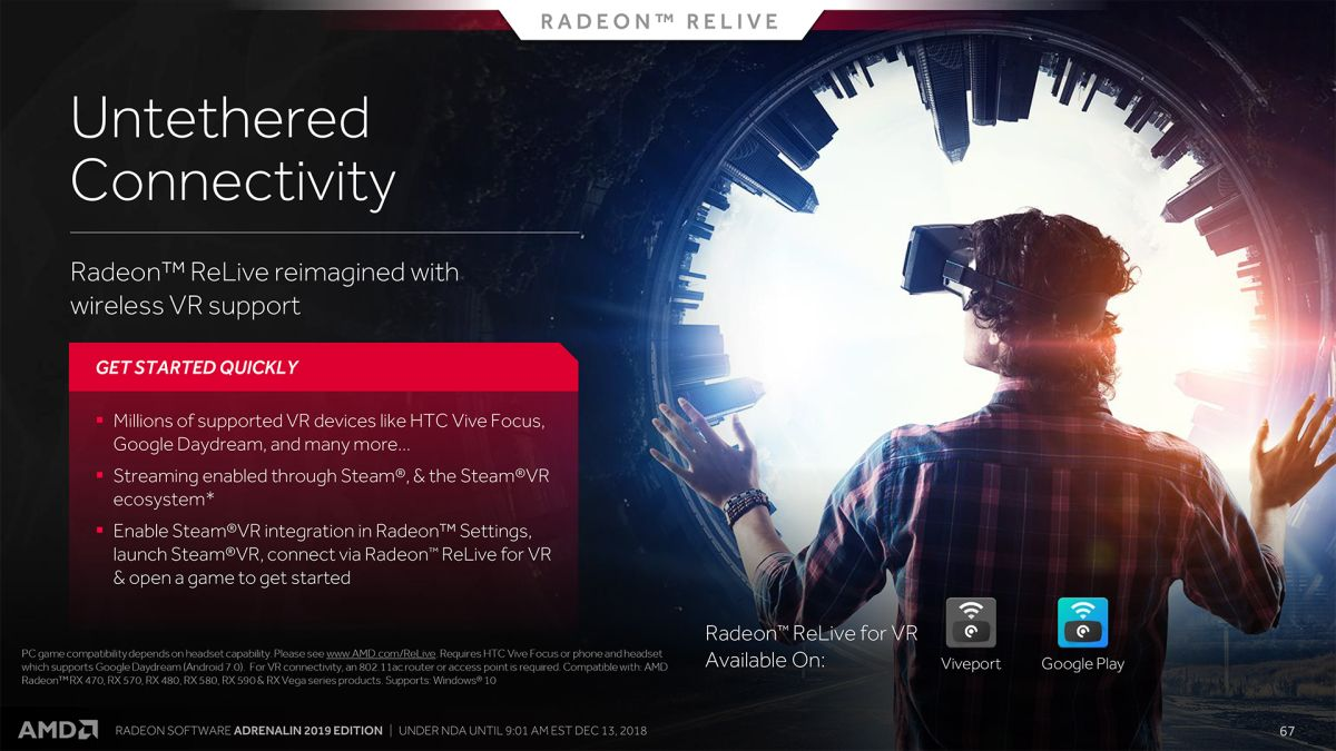 AMD's latest graphics card software lets you stream VR games