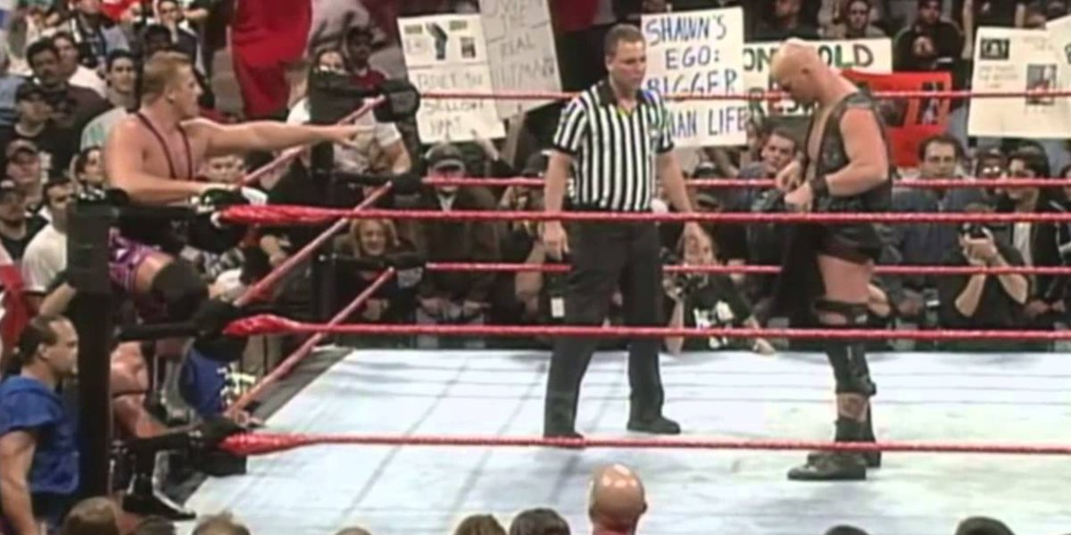 Owen Hart and Stone Cold Steve Austin at Survivor Series '97