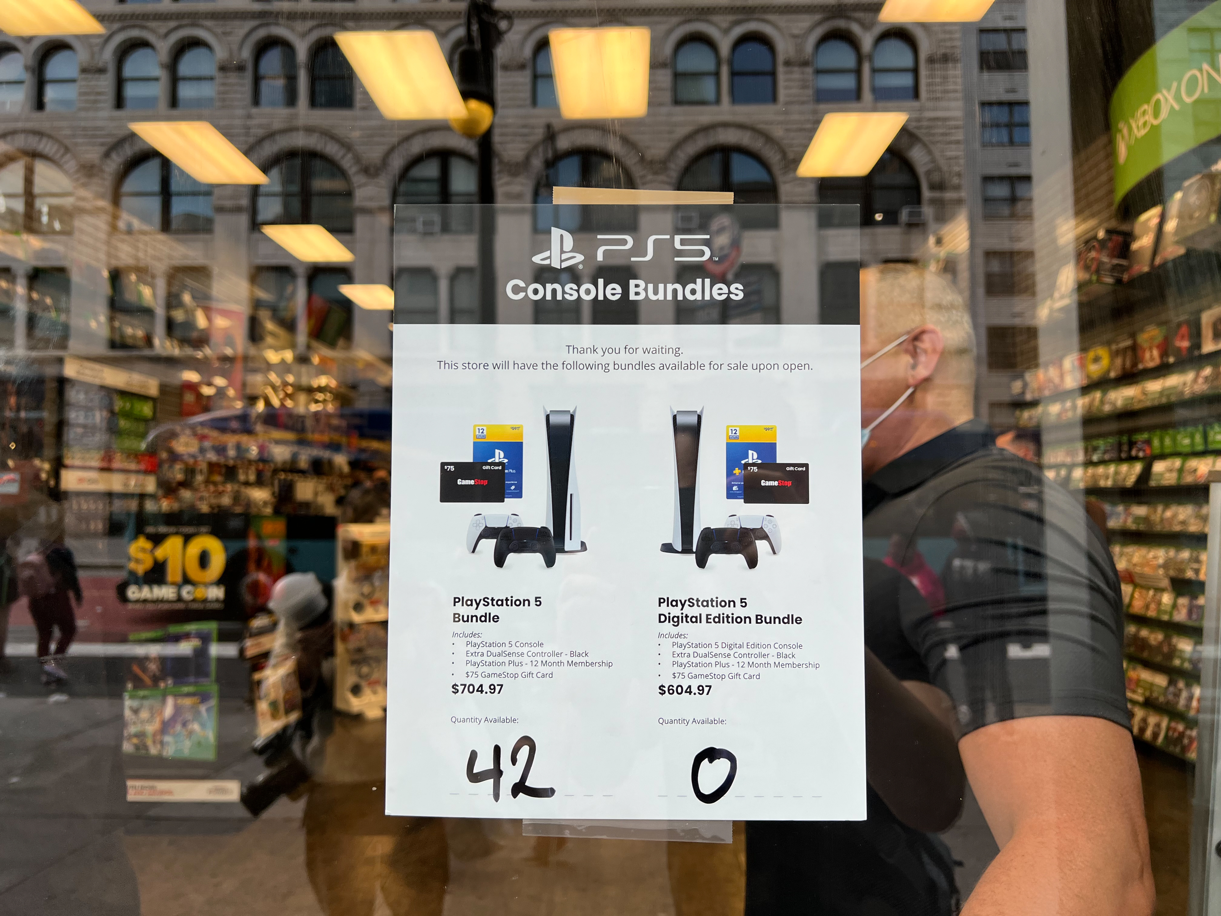 PS5 restock GameStop console count how many at the in-store event
