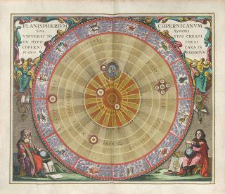 The Copernican Planisphere, illustrated in 1661 by Andreas Cellarius, illustrates Nicolaus Copernicus' model of the solar system, which flew in the face of established (and religious) views of the universe.