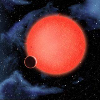 Artist's Impression of Exoplanet GJ 1214b