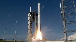 A United Launch Alliance Atlas V rocket launches the EchoStar 19 communications satellite into orbit from Space Launch Complex 41 at Cape Canaveral Air Force Station, Florida on Dec. 18, 2016.
