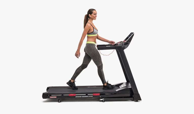 Kettler Sport Arena Treadmill: woman walking on treadmill