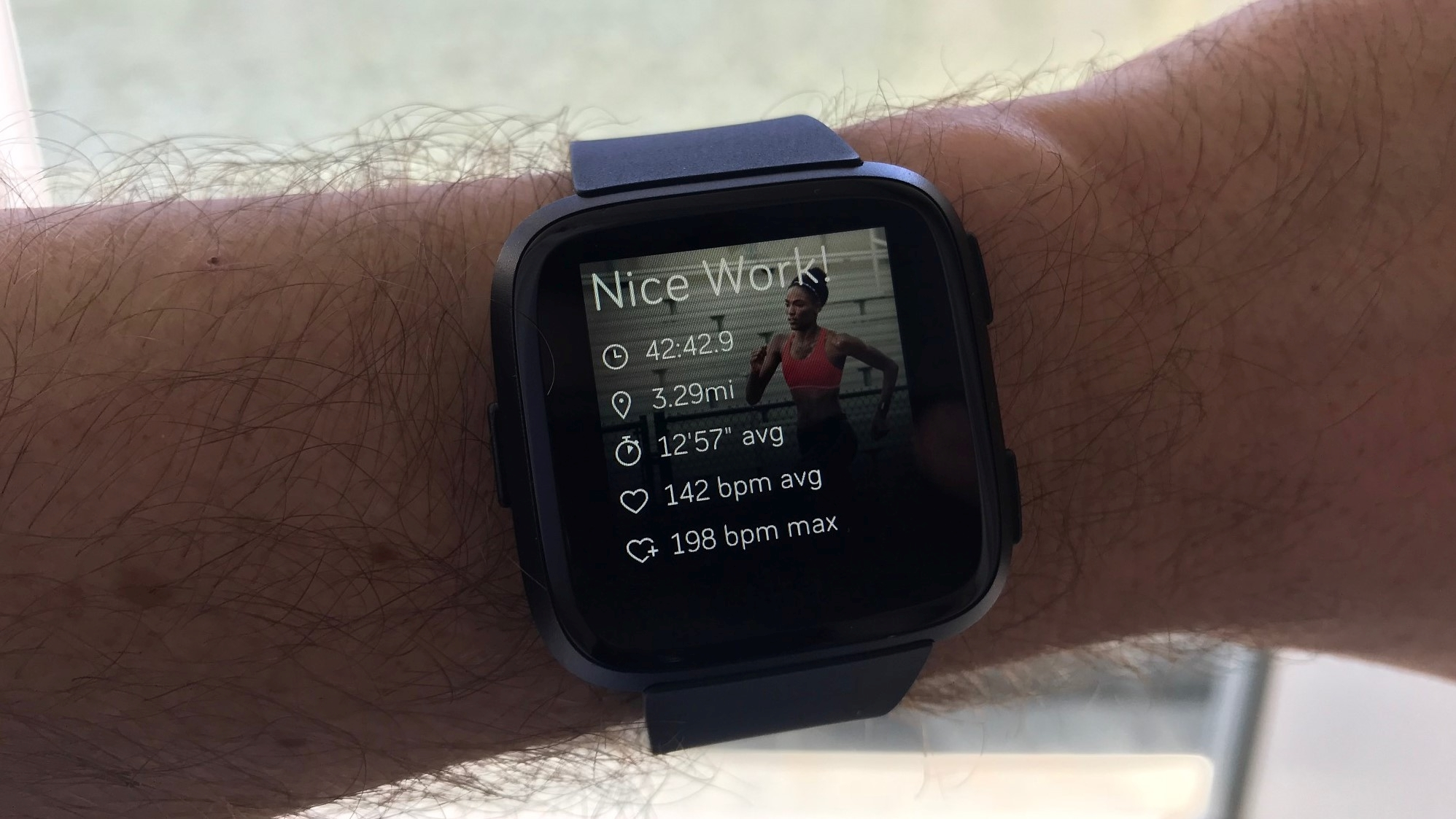 The Versa gives you a workout summary of your performance as soon as you've done your exercise
