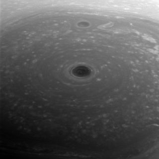 Cassini Spies Saturn's North Polar Vortex
