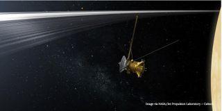 Cassini at Saturn art