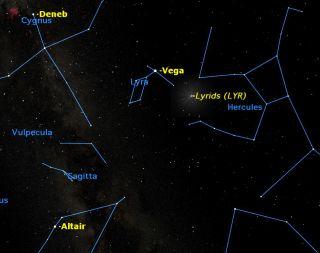 Lyrid Meteors Peak