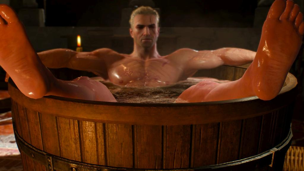 You Can Finally Buy The Tub Geralt Statue Pc Gamer