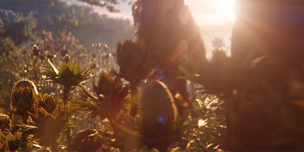 Thanos walking through a field