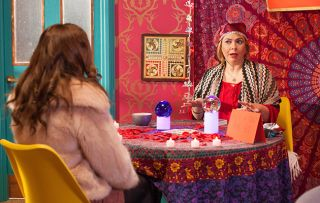 Moira turns fortune-teller and Cleo tries to win back Joel in Hollyoaks