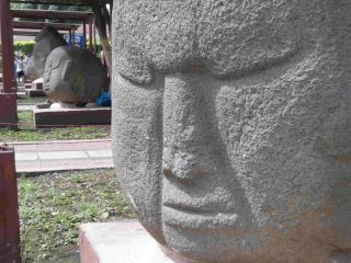 Potbelly sculptures on display near Guatemala's Pacific coast.