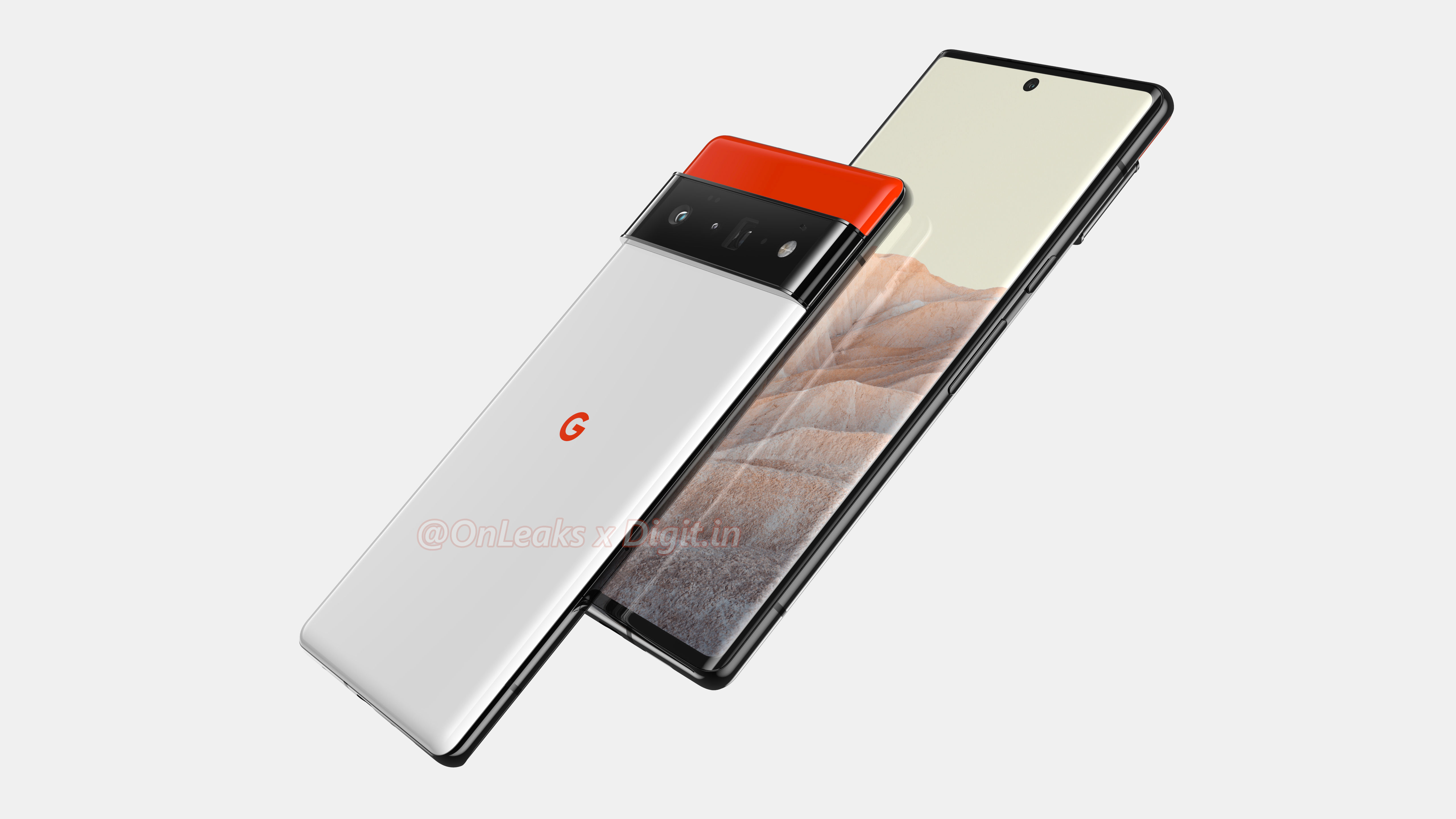 Front and back looks at the Google Pixel 6