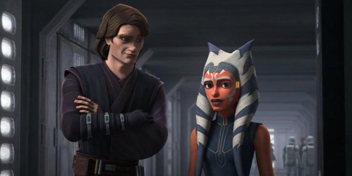Anakin Skywalker and Ahsoka Tano on Star Wars: The Clone Wars (2020)