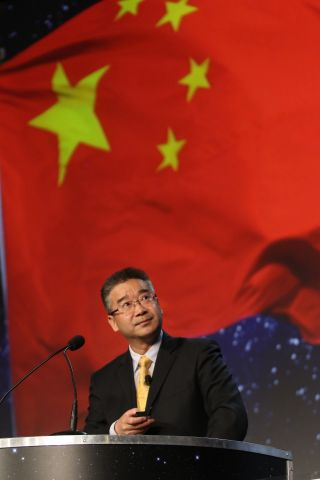 Yulong Tian, secretary-general of the China National Space Administration (CNSA), spoke April 5 during the 33rd Space Symposium.