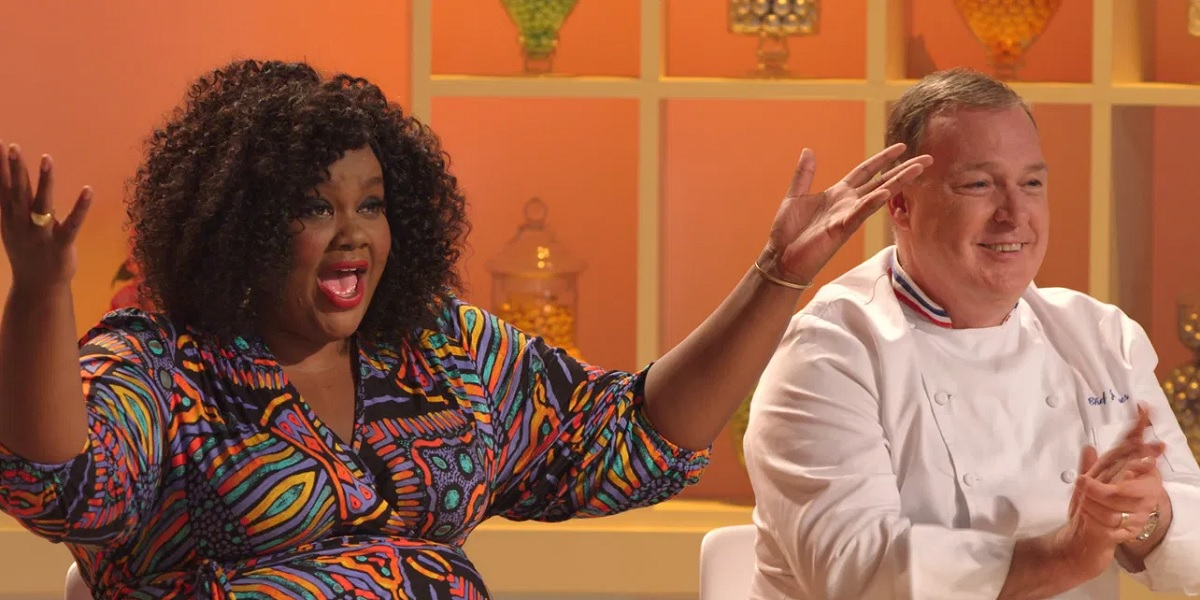 Nicole Byer and Jacques Torres in Nailed It!