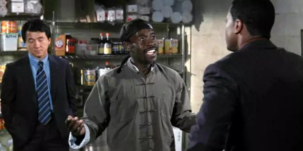 Jackie Chan, Don Cheadle, and Chris Tucker in Rush Hour 2