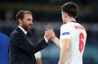 Harry Maguire (right) has praised the support shown in him by England boss Gareth Southgate.