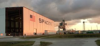 SpaceX Rocket Hangar at Kennedy Space Center