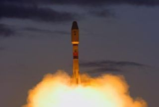 Soyuz 2-1b rocket lifts off on Sunday, October 2, 2011, from the Plesetsk Cosmodrome in northern Russia.
