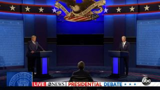 Donald Trump and Joe Biden during the first Presidential Debate on Sept. 29, 2020