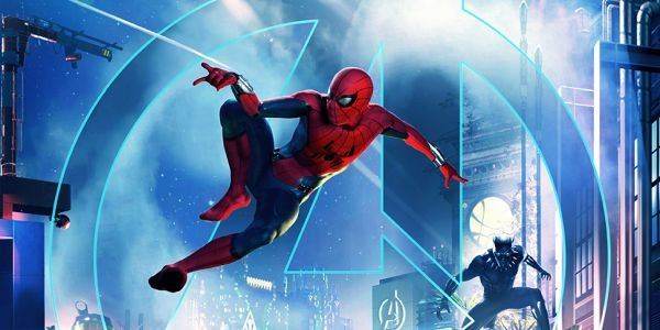 Spider-Man and Black Panther on promotional poster for new Marvel Land at Disneyland