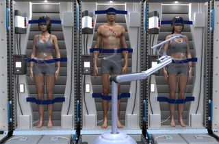 Ilustration of Mars Mission Crew in Stasis
