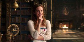 Emma Watson's Belle in the library