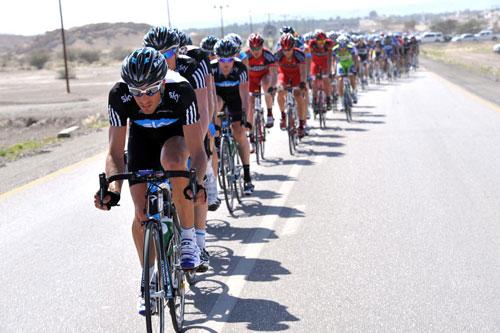 Juan Antonio Flecha leads Team Sky, Tour of Oman 2010, stage four