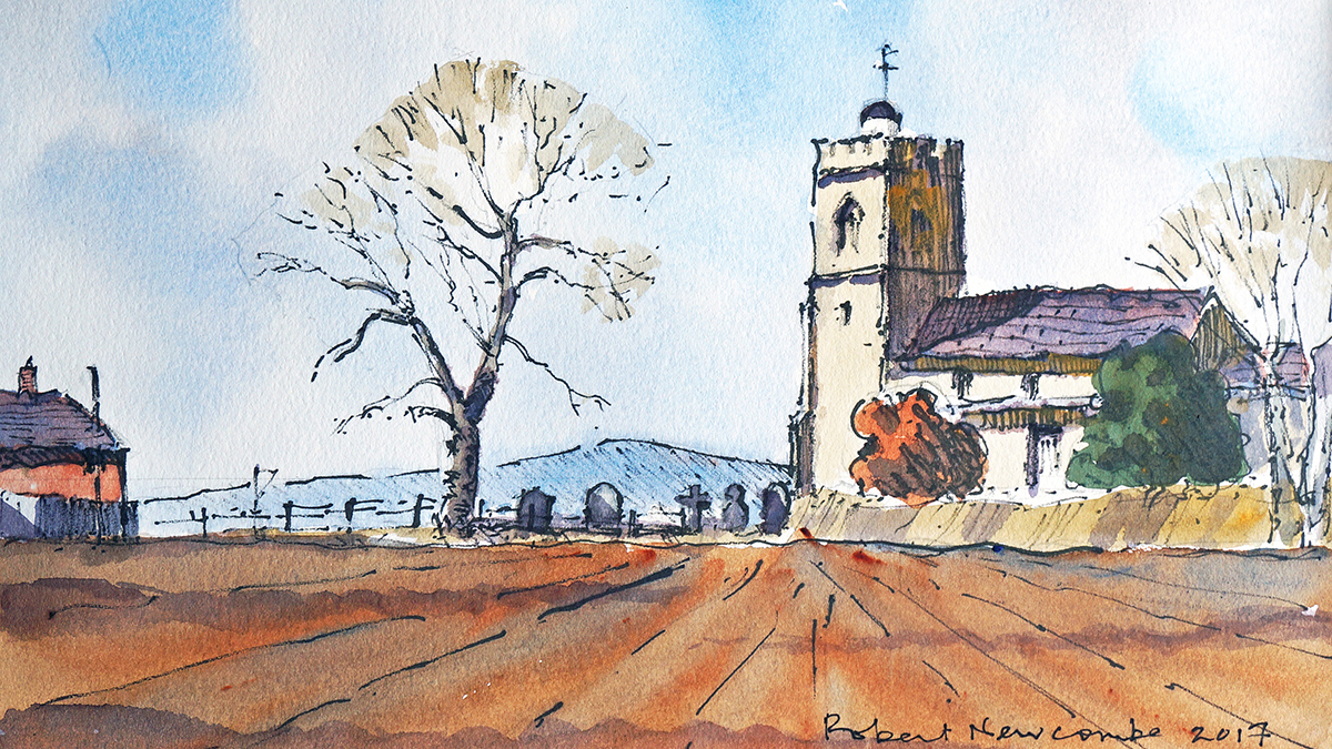 How to paint a traditional British village scene