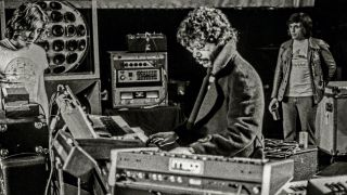 Chick Corea - Return To Forever performing on stage at the New Victoria Theatre in London, 4th May 1976.