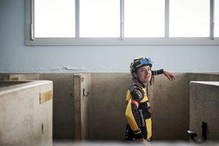 Marianne Vos (Jumbo-Visma) ahead of the inaugural Paris-Roubaix Femmes